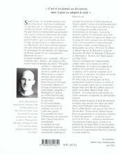 Le style documentaire ; d'August Sander à Walker Evans (1920-1945) - 4ème de couverture - Format classique
