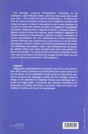 Le Voyage En Guadeloupe - 4ème de couverture - Format classique