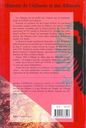 Histoire de l'Albanie et des albanais - 4ème de couverture - Format classique