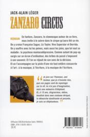 Zanzaro circus - 4ème de couverture - Format classique