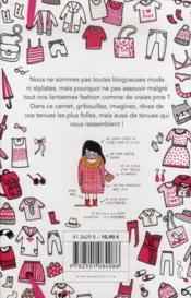 Mon carnet de styliste - fashion fantasmes - 4ème de couverture - Format classique
