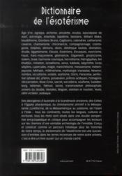 Dictionnaire de l'ésotérisme (2e édition) - 4ème de couverture - Format classique