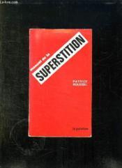 Manuel De Superstition. - Couverture - Format classique