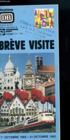 Breves Visites - Couverture - Format classique