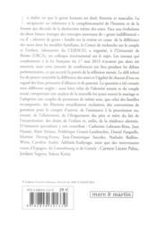 La complémentarité des sexes en droit de la famille - 4ème de couverture - Format classique