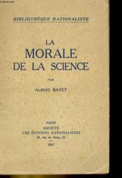 La Morale De La Science - Couverture - Format classique