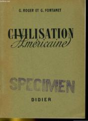 Civilisation Americaine - Classes De Premiere Et Classes Superieures - Couverture - Format classique