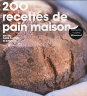 200 recettes de pain - Couverture - Format classique