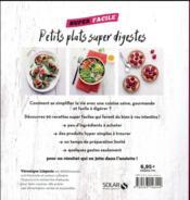 Petits plats super digestes - 4ème de couverture - Format classique