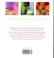 Une année de bonheur - 4ème de couverture - Format classique