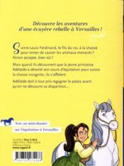 Cavalière du roi T.5 ; au secours de la princesse - 4ème de couverture - Format classique