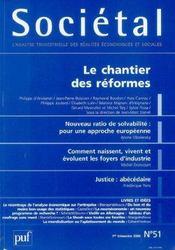 Societal T.51 ; Le Chantier Des Reformes - Intérieur - Format classique