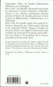 L'Appel 1940-1942 - 4ème de couverture - Format classique