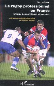 Le Rugby Professionnel En France ; Enjeux Economiques Et Sociaux - Intérieur - Format classique