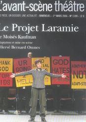 REVUE L'AVANT-SCENE THEATRE N.1199 ; le projet Laramie - Intérieur - Format classique
