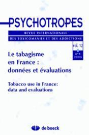 Revue Psychotropes N.12/1 ; Le Tabagisme En France - Couverture - Format classique