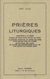 Prières liturgiques - Couverture - Format classique
