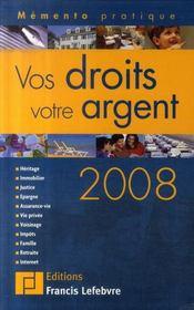 Vos droits, votre argent 2008 - Intérieur - Format classique