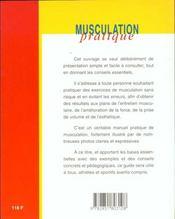 Musculation Pratique - 4ème de couverture - Format classique