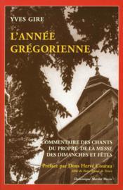 Annee gregorienne - Couverture - Format classique