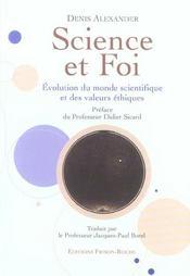Science Et Foi ; Evolution Du Monde Scientifique Et Des Valeurs Ethiques - Intérieur - Format classique