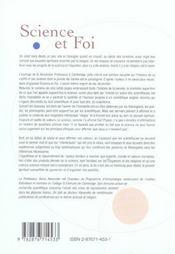 Science Et Foi ; Evolution Du Monde Scientifique Et Des Valeurs Ethiques - 4ème de couverture - Format classique