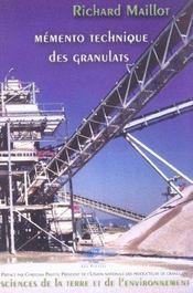 Memento Technique Des Granulats - Intérieur - Format classique
