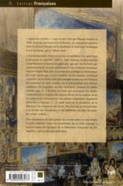 Séries et variations ; études littéraires offertes à Sylvain Menant - 4ème de couverture - Format classique