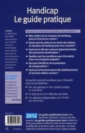 Handicap ; le guide pratique (édition 2012) - 4ème de couverture - Format classique