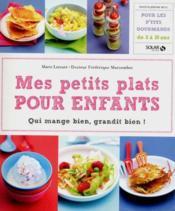 Mes petits plats pour enfants - Couverture - Format classique