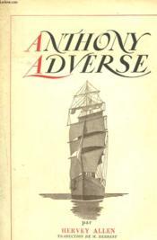 Anthony Adverse. - Couverture - Format classique