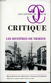 CRITIQUE N°435-436 : Les mystères de trieste - Couverture - Format classique