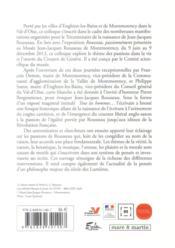 Jean-Jacques Rousseau et les passions - 4ème de couverture - Format classique