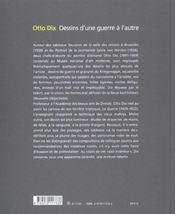 Otto dix. dessins d'une guerre a l'autre - 4ème de couverture - Format classique