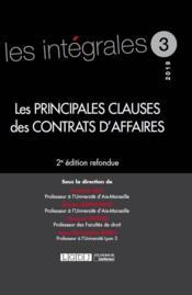 Les principales clauses des contrats d'affaires (2e édition) - Couverture - Format classique