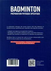 La preparation physique en badminton - 4ème de couverture - Format classique