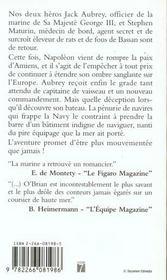 Capitaine De Vaisseau - 4ème de couverture - Format classique