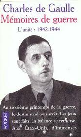 Memoires De Guerre T.2 Unite 1942-1944 - Intérieur - Format classique