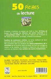 50 fiches de lecture d'histoire et de geographie, d'conomie et de sociologie - 4ème de couverture - Format classique