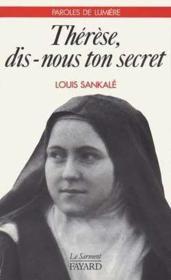 Therese, Dis-Nous Ton Secret - Couverture - Format classique