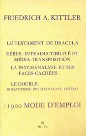 1900 mode d'emploi ; le testament de Dracula - Couverture - Format classique