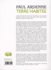 Terre habitée ; humain et urbain à l'ère de la mondialisation ; attraction urbaine - 4ème de couverture - Format classique