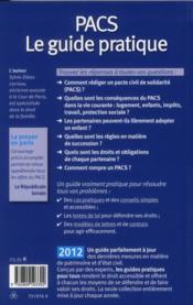 Pacs ; le guide pratique (édition 2012) - 4ème de couverture - Format classique