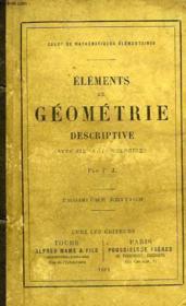 Elements De Geometrie Descriptive, Avec 600 Exercices - Couverture - Format classique