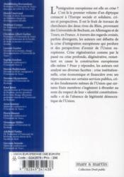 L'Union européenne ; crises et perspectives - 4ème de couverture - Format classique