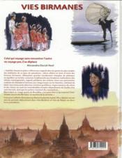 Vies birmanes - 4ème de couverture - Format classique