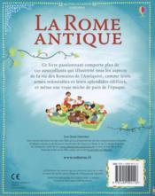 La Rome antique - 4ème de couverture - Format classique