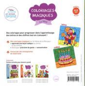 Coloriages magiques ; la fête - 4ème de couverture - Format classique