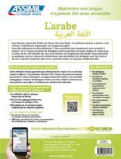 L'arabe ; B2 - 4ème de couverture - Format classique