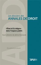 L'etat et la religion dans l'espace public - Couverture - Format classique